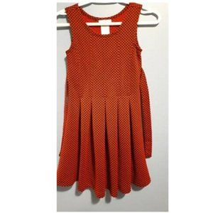 Girl Dress Sleeveless Red Polka Dots size 10